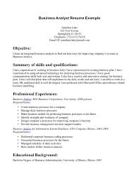 business analyst resume sample sample resume for business sample resume objective statements for business analyst 1