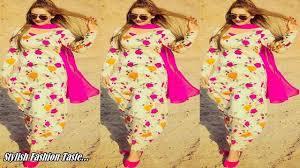 Attractive printed salwar suit <b>design</b> | <b>Floral print</b> - YouTube