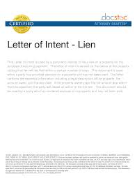 lien letter format letter format  lien letter format