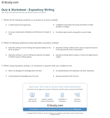 quiz worksheet expository writing com print what is expository writing definition examples worksheet