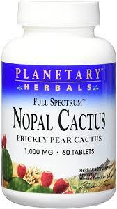 Planetary Herbals <b>Full Spectrum Nopal Cactus</b> 1000mg Prickly Pear ...