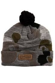 <b>Crooks</b> and Castles Beanie Problem Solvers Pom in Grey Camo ...