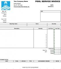 pool service invoice template excel pdf word doc microsoft excel xls