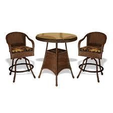 wicker bar height dining table: tortuga outdoor lexington wicker bar table