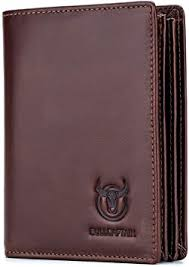Bullcaptain Large Capacity Genuine Leather Bifold <b>Wallet</b>/Credit ...
