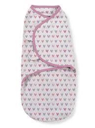 <b>Конверт на</b> липучке Swaddleme®, размер S/M, розовые сердечки ...