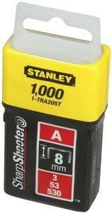 <b>Скобы</b> для степлера 4 мм Light Duty (<b>тип 53</b>, 1000 шт) <b>Stanley</b> 1 ...