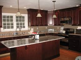 countertops dark wood kitchen islands table: brown isnald with metal gas stove table shiny black granite countertops white marble island table white