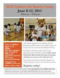 2015 caltech all sports camp caltech recreation room