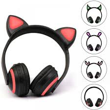 Headphones Flashing Headset <b>Cat Bluetooth</b> Gaming 7 Color Ear ...