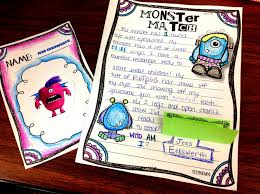 descriptive writing   monster match   sssteachingdescriptive writing essays is our  quot big quot  project this unit but this paragraph was a fun way to reinforce and practice   connecting it to previous lessons
