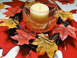 Image result for leaf centerpiece craft image