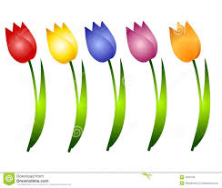 Image result for cartoon picture of a tulip
