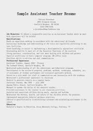 resume for teacher assistant objective online resume format resume for teacher assistant objective teacher assistant resume sample career enter resume samples assistant teacher resume