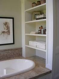 bathroom space savers bathtub storage: bathroom shelves would like to put it by our bath