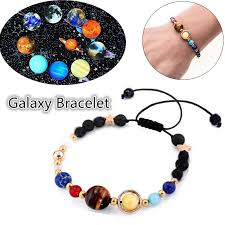 2018 Fashion <b>New Bracelet</b> Galaxy Solar System Eight Planets ...