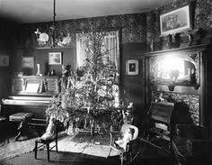 christmas tree in the living room antique victorian living room
