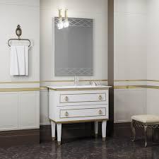 Мебель для ванной <b>Smile Порто</b> 80 белый/золото купить в ...
