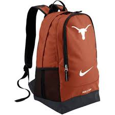 nike texas longhorns large training backpack burnt orange burnt red home office