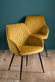 <b>Yellow Dining Chairs</b> | Velvet & <b>Fabric Yellow Dining Chairs</b> | Next