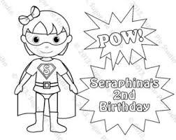 Small Picture Personalized Printable SuperHero Super hero Girl Birthday