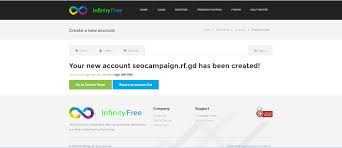 how to make a completely website infinity infinity go to cpanel page