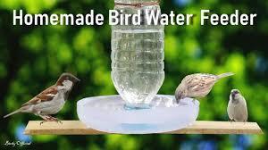 How To Make A <b>Bird Water Feeder</b>   DIY Homemade Plastic Bottle ...