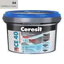 <b>Затирка</b> для <b>швов</b> Ceresit СЕ 40 Aquastatic серебристо-серая 2 кг ...