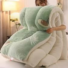 <b>Super Warm</b> Lamb quilt winter blanket 5kg double sided velvet quilt ...