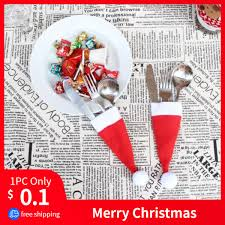<b>Hot Sale 2019 1PC</b> Christmas Decorative tableware Knife Fork Set ...