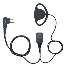 DCC-M | Basic <b>D Shape</b> Earpiece - Motorola <b>2 pin</b> | Wildtalk
