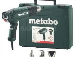 <b>Фен технический</b> Metabo HE 23-650 в кейсе + <b>набор</b> насадок, под ...
