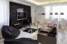 ideas contemporary living room: beautiful modern living room decorating ideas with sofa bed and glass table idea feat black