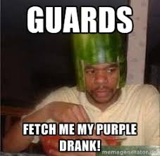 guards fetch me my purple drank! - king nigger | Meme Generator via Relatably.com
