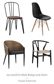 Black Dining Room Chairs Jojotastic My Search For The Perfect Black Dining Room Chairs