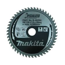 Makita B-40294 <b>136mm</b> x 20mm x 50T <b>Circular</b> Saw Blade for ...