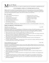free customer service representative resume sample    customer representative resume ba d  ec the resume of a customer service representative   resume template online