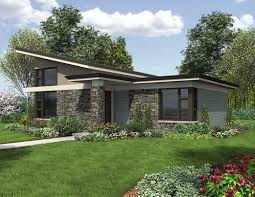 Home Plans that the Modern Generation will LoveCompact Contemporary   no Garage