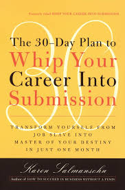the day plan to whip your career into submission transform the 30 day plan to whip your career into submission transform yourself from job slave to master of your destiny in just one month karen salmansohn