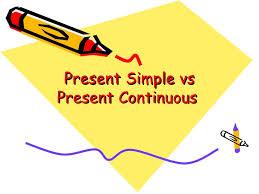 Resultado de imagen de present simple versus present continuous