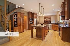 kitchen design entertaining includes: other features include cambria countertops quarter amp rift sawn oak flooring travertine backsplash bronze plumbing fixtures amp cabinet hardware