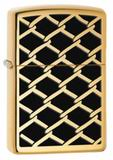 <b>Зажигалка Zippo Fence Design</b>, латунь с покрытием High Polish ...