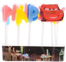 <b>Procos Свечи</b>-<b>буквы</b> для торта детские Тачки Happy Birthday ...