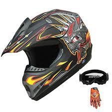 Adult ATV <b>Dirt Bike Motocross</b> Off-road Helmet Red/Black