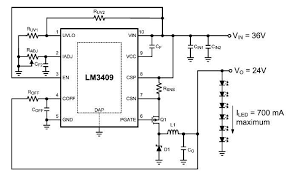dimming controlled led driver circuit design lm3409 dimming controlled led driver circuit design