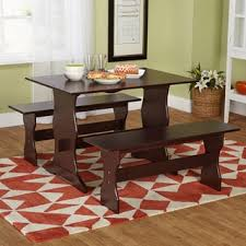 three piece dining set: simple living leah espresso  piece dining set