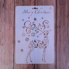 1PC Plastic Drawing Painting Stencil <b>Christmas Theme</b> Painting ...