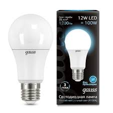 Лампочка 102502212 <b>Лампа Gauss LED A60</b> globe 12W E27 ...