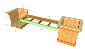 1000 images about patio planters and bench on pinterest planter bench bench plans and planters cedar bench plans