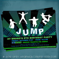 jump trampoline or bounce house birthday party invite for big bounce house birthday party invite for big kids by tipsy graphics 128270zoom